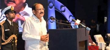 New Delhi: Vice President M. Venkaiah Naidu addresses at the Centenary celebrations of All India Oriental Conference at Kavikulaguru Kalidas Sanskrit University, in Nagpur on Jan 10, 2020. (Photo: IANS/PIB)
