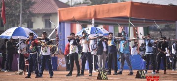 Guwahati: Day 2 of the Archery Competition underway at the Khelo India Youth Games 2020 in Guwahati on Jan 11, 2020. (Photo: IANS/PIB)