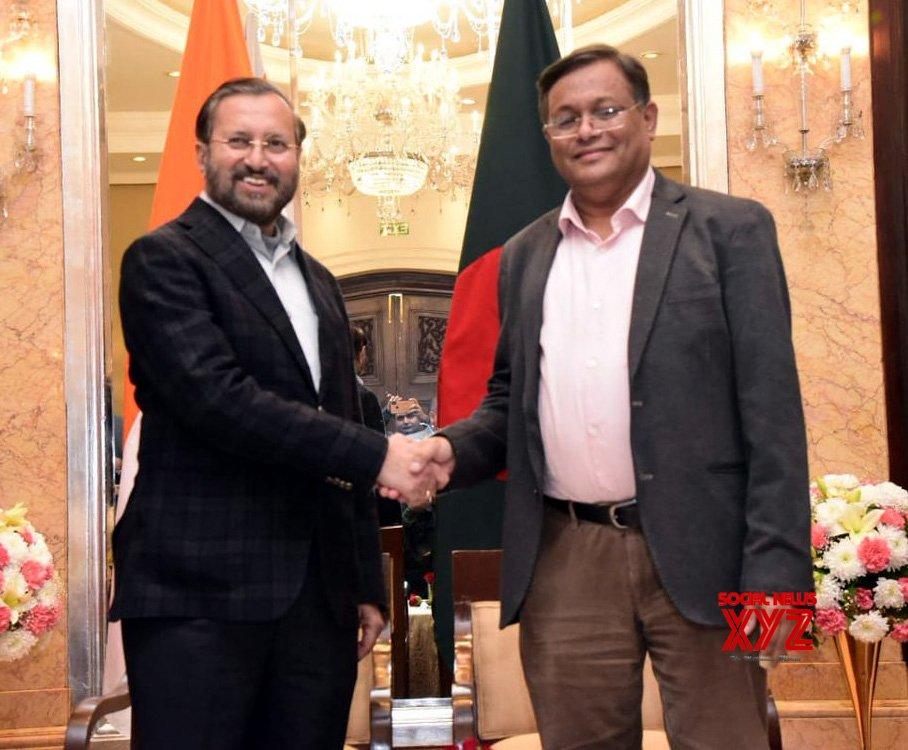New Delhi: Bangladesh's Information Minister meets Prakash Javadekar #Gallery