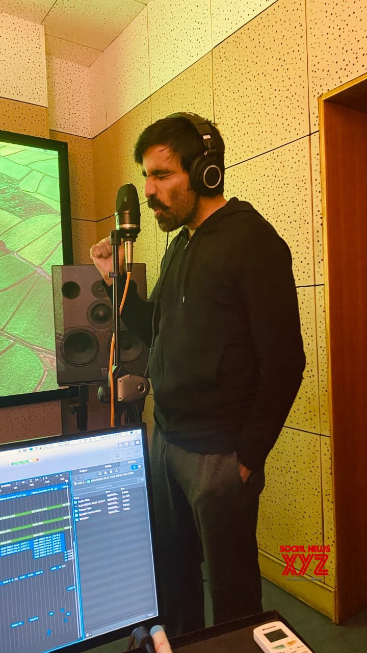 Photos: Ravi Teja Finished Recording A Song For Disco Raja