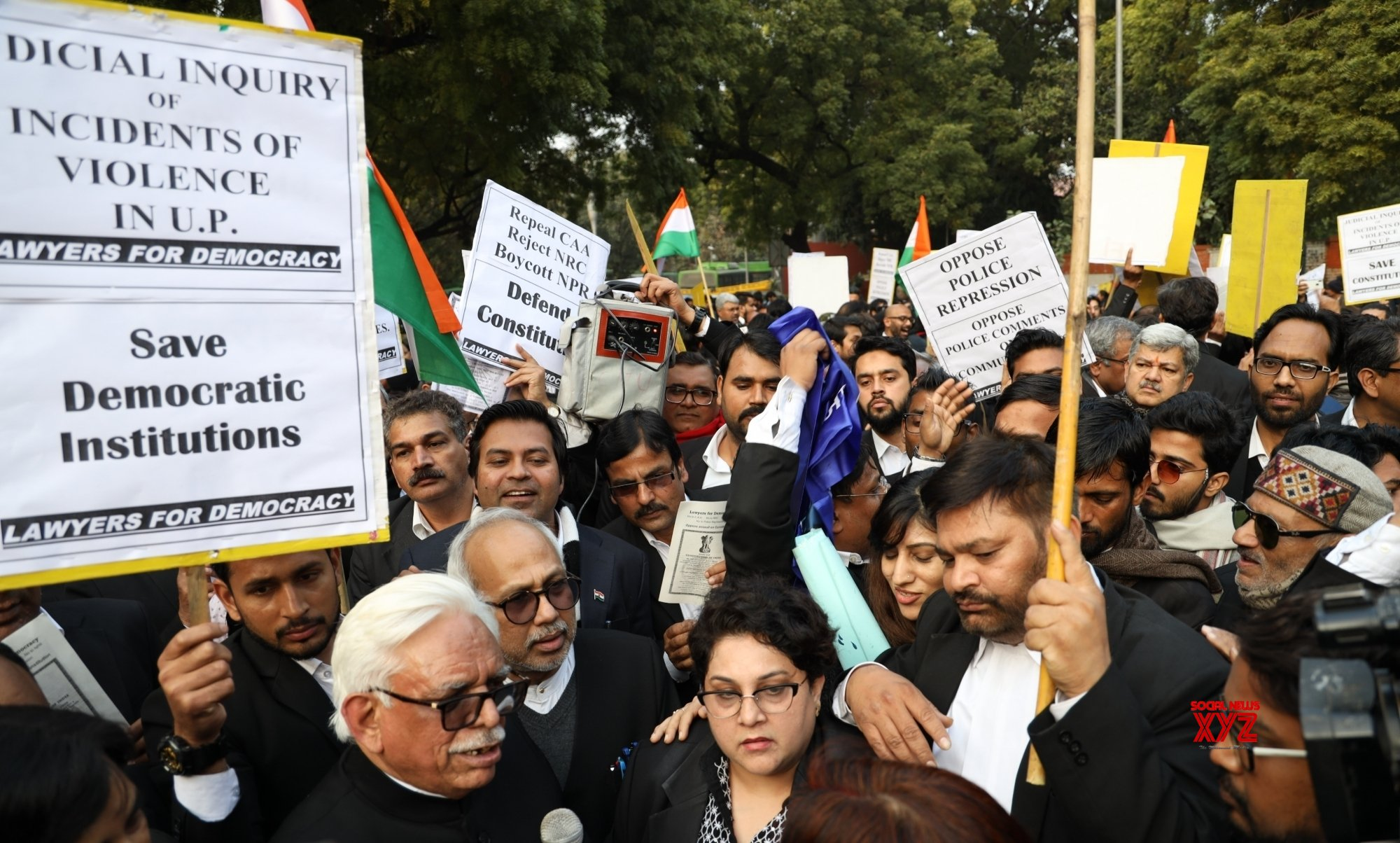 New Delhi: Lawyers protest against CAA - NRC - NPR #Gallery