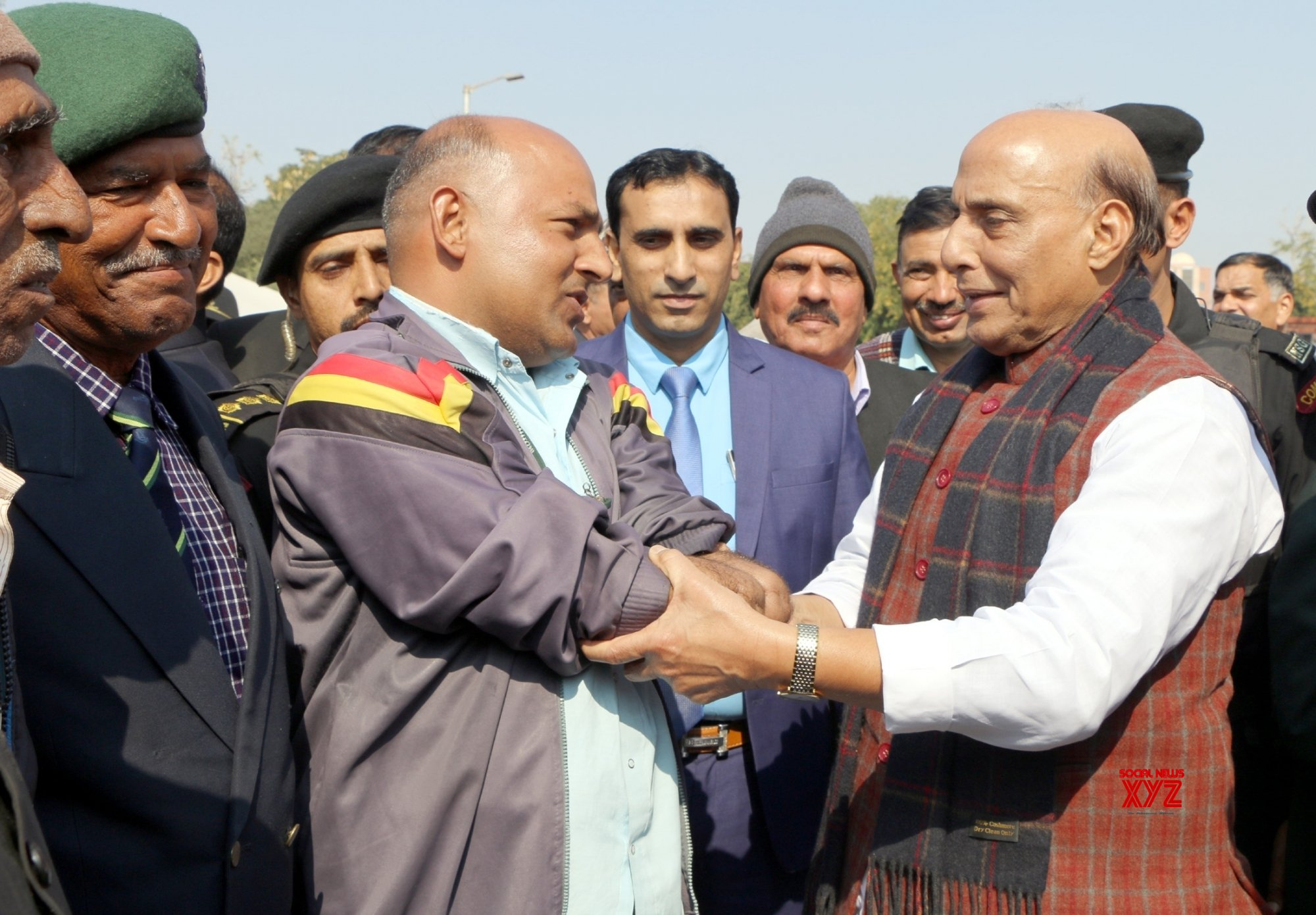 Jaipur: Rajnath Singh at Armed Forces Veterans' Day #Gallery