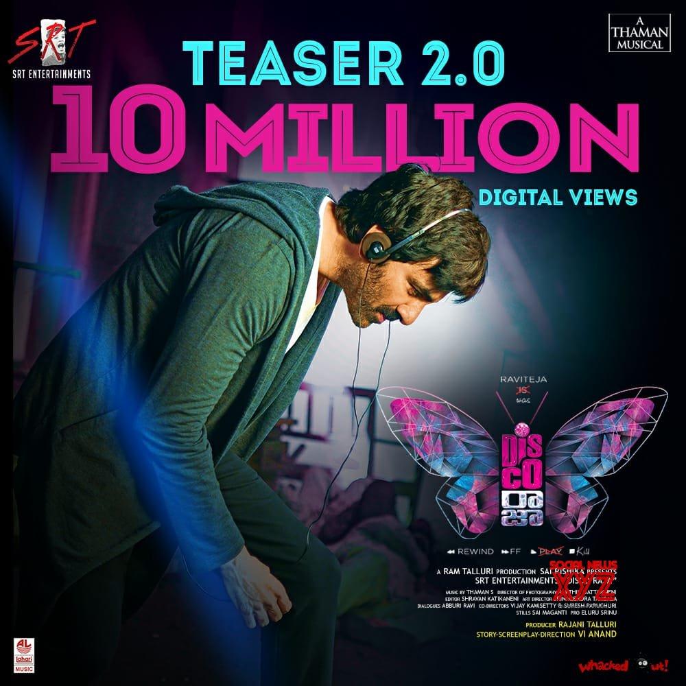 Ravi Teja's Disco Raja Movie Teaser 2 Gets 10 Million Views Poster