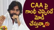 PM Modi Is Following Mahatma Gandhi's Intention Over CAA Says Pawan Kalyan (Video)