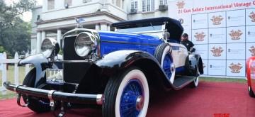 New Delhi: Vintage car 1928 Gardner on display at the 21 Gun Salute International Vintage Car Rally & Concours d'Elegance, in New Delhi on Jan 28, 2020. (Photo: IANS)