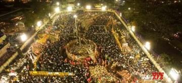 Medaram: Devotees participate in the Sammakka Saralamma Jatara in Medaram, Telangana on Feb 3, 2020. (Photo: IANS)