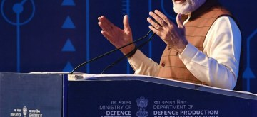 New Delhi: Prime Minister Narendra Modi addresses at the inaugural session of DefExpo 2020 in Lucknow on Feb 5, 2020. (Photo: IANS/PIB)