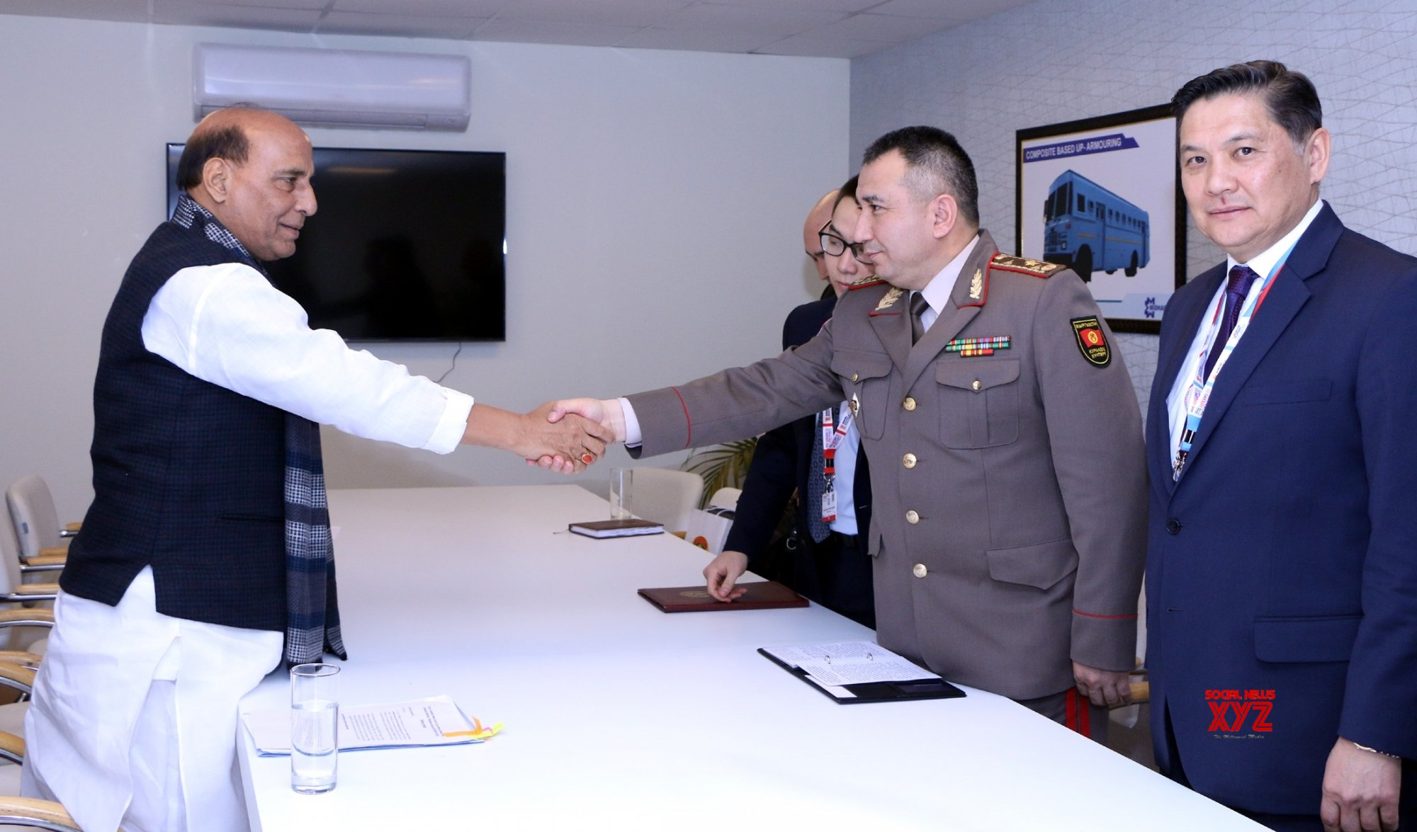 New Delhi: Rajnath Singh meets Kyrgyzstan Defence Minister #Gallery