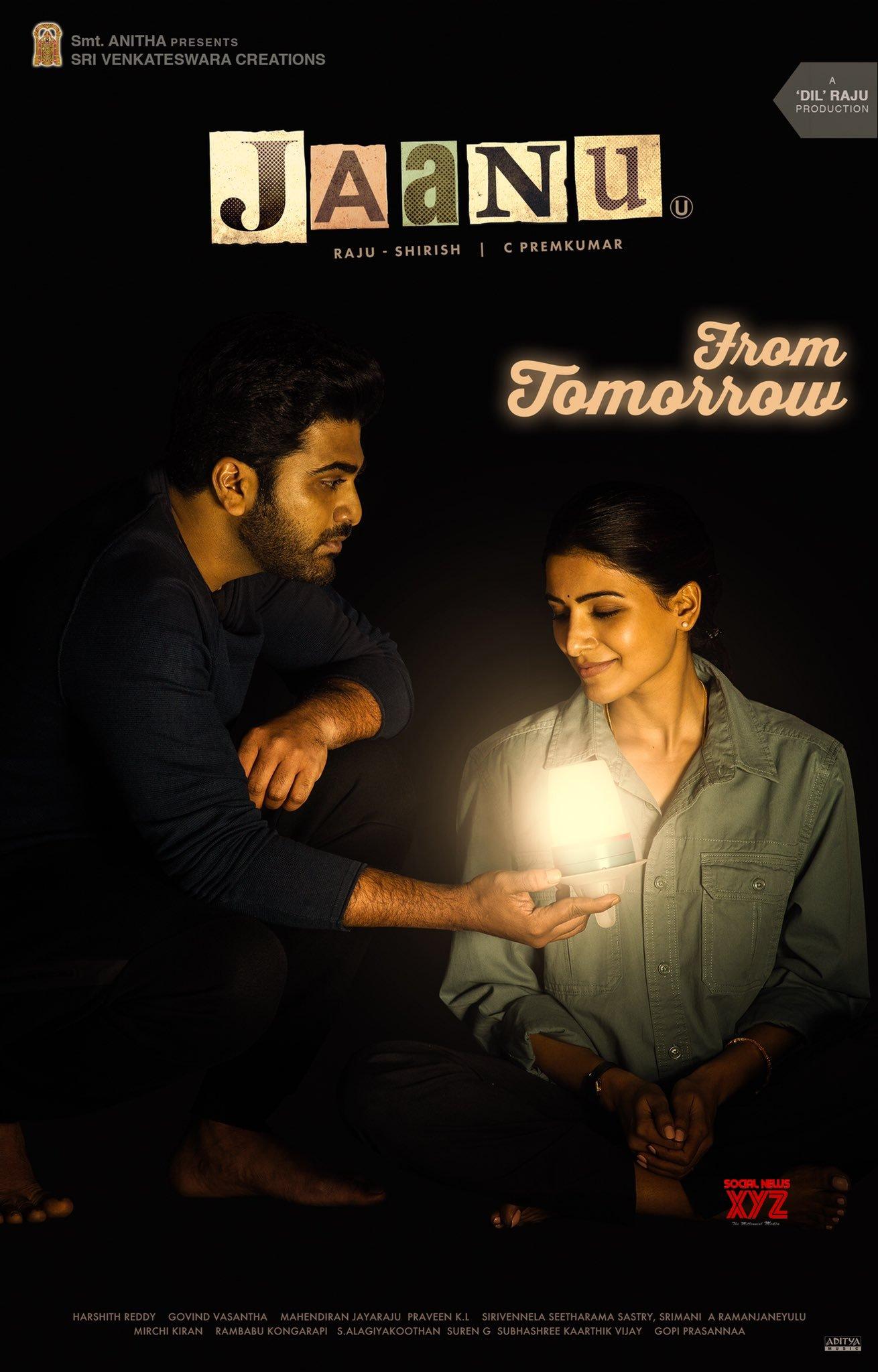 Sharwanand And Samantha S Jaanu Movie From Tomorrow Poster Social News Xyz