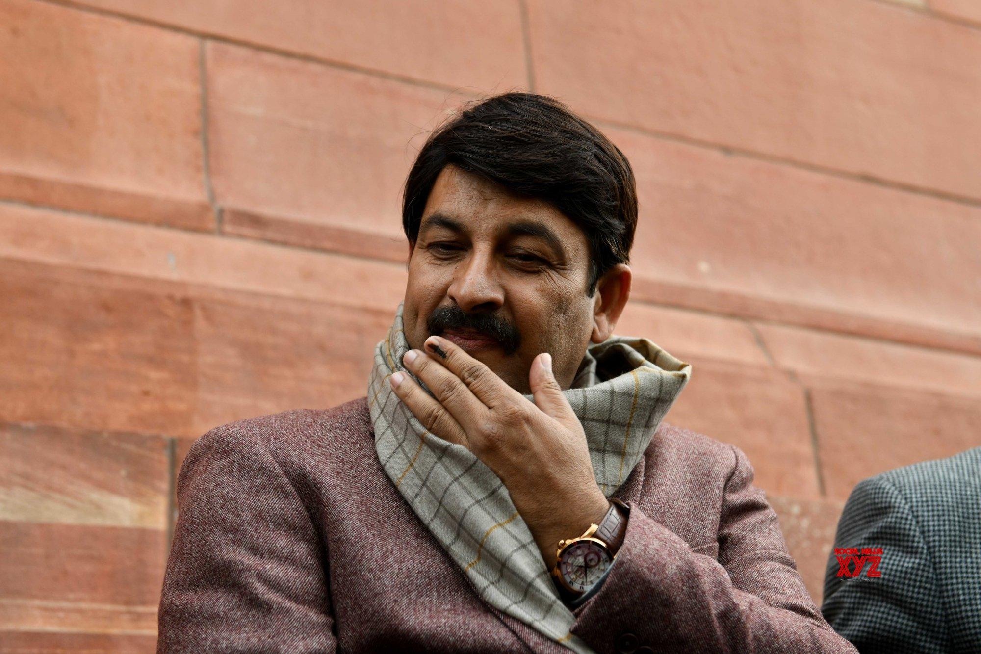 New Delhi: Budget Session - Manoj Tiwari at Parliament #Gallery