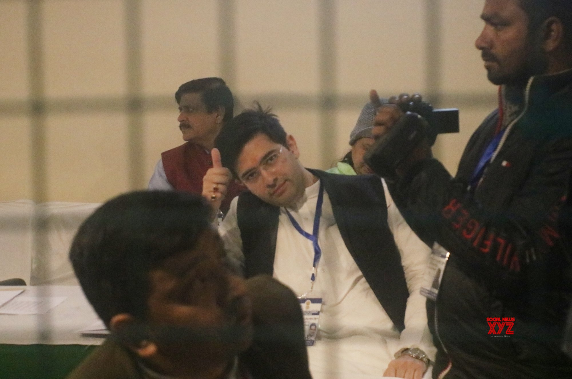 New Delhi: Counting begins for Delhi Assembly elections - Raghav Chadha at Gol Market counting centre #Gallery