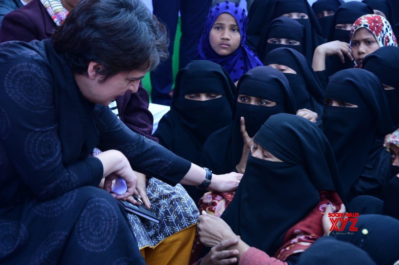 Azamgarh (UP): Priyanka meets anti - CAA protest victims in Azamgarh #Gallery