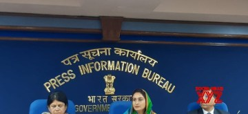 New Delhi: Union Food Processing Minister Harsimrat Kaur Badal addresses a press conference on Organic Food Festival which will be held from 21st to 23rd Feb 2020, in New Delhi on Feb 13, 2020. (Photo: IANS)