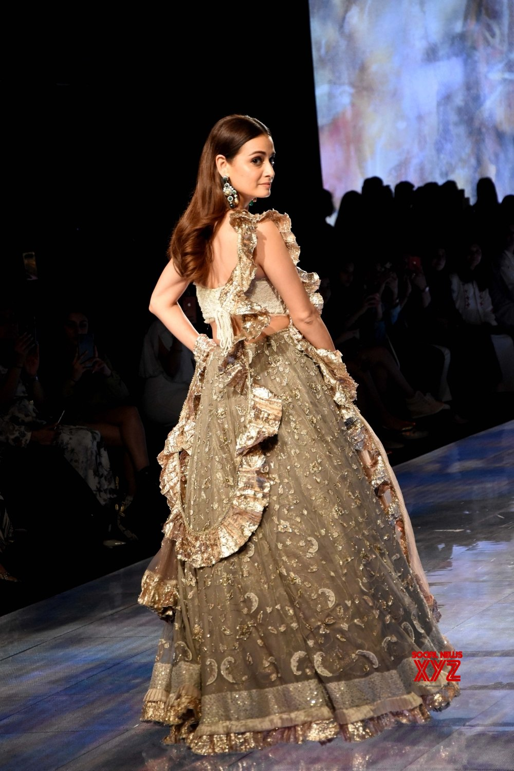 Mumbai: Dia Mirza showcases House of Kotwara collection at Lakme Fashion Week Day 4 #Gallery