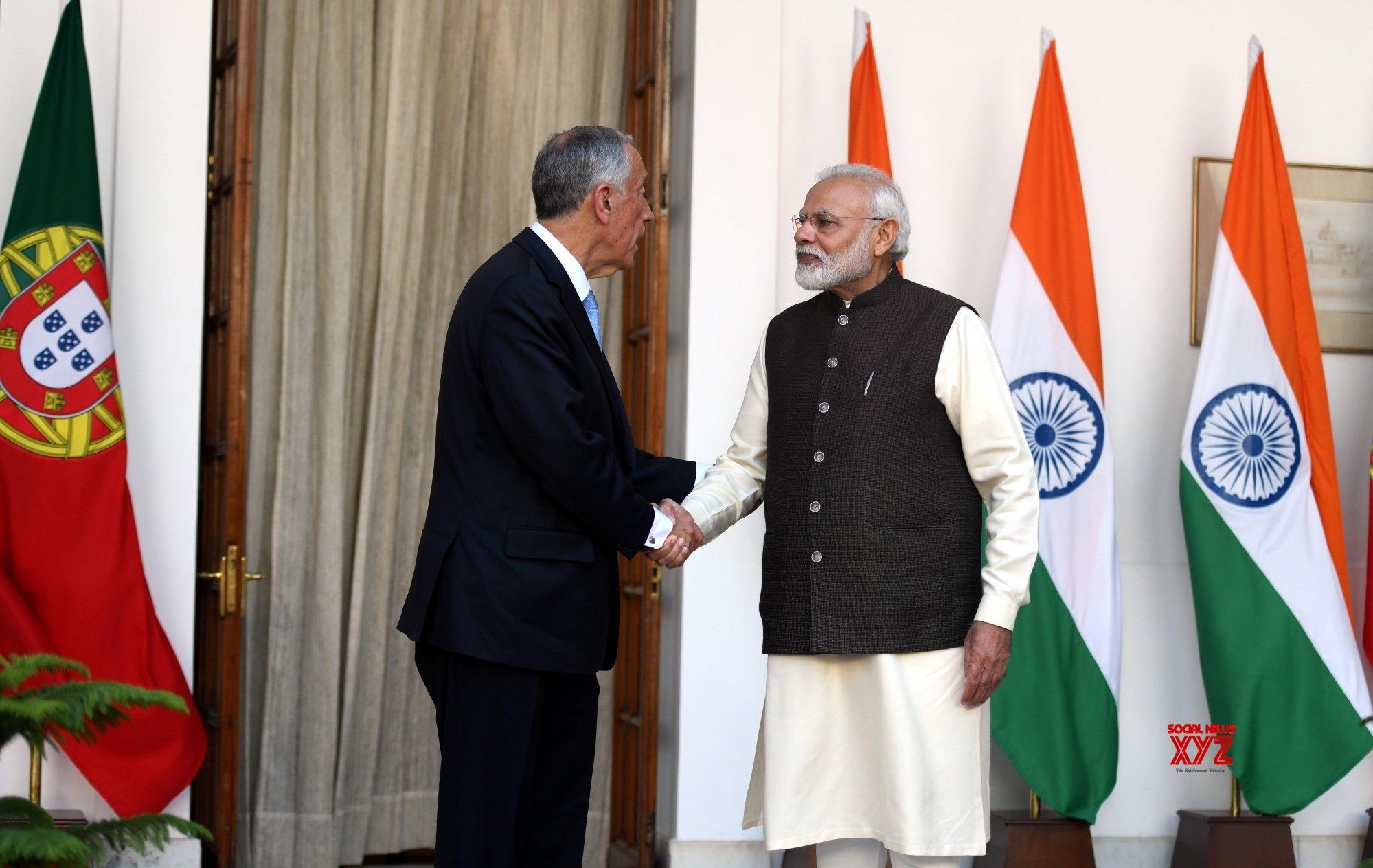 New Delhi: PM Modi, Portuguese President at Hyderabad House #Gallery