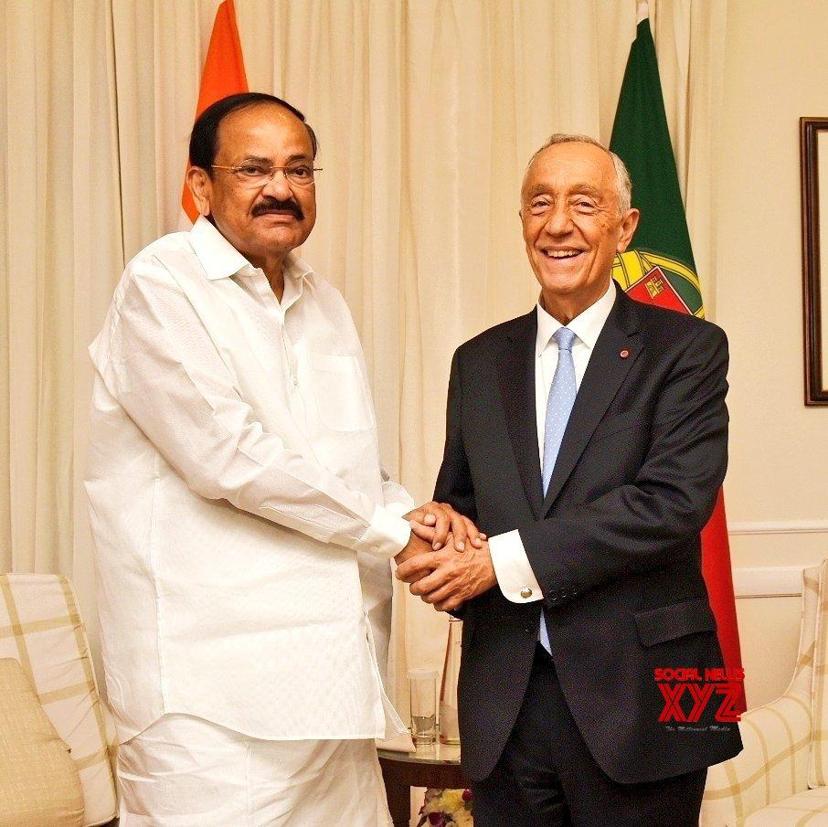 New Delhi: Vice President Venkaiah Naidu meets Portuguese President #Gallery