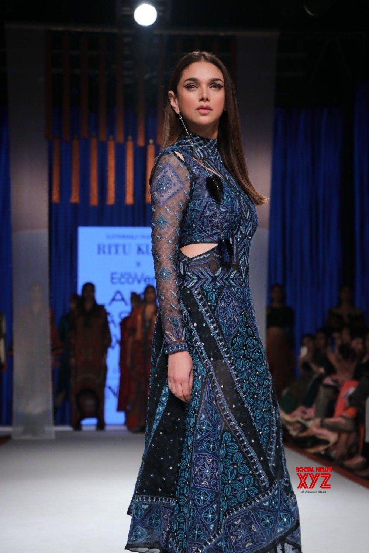 Mumbai: Aditi Rao Hydari walks for Ritu Kumar at Lakme Fashion Week Day 3 (Batch - 2) #Gallery
