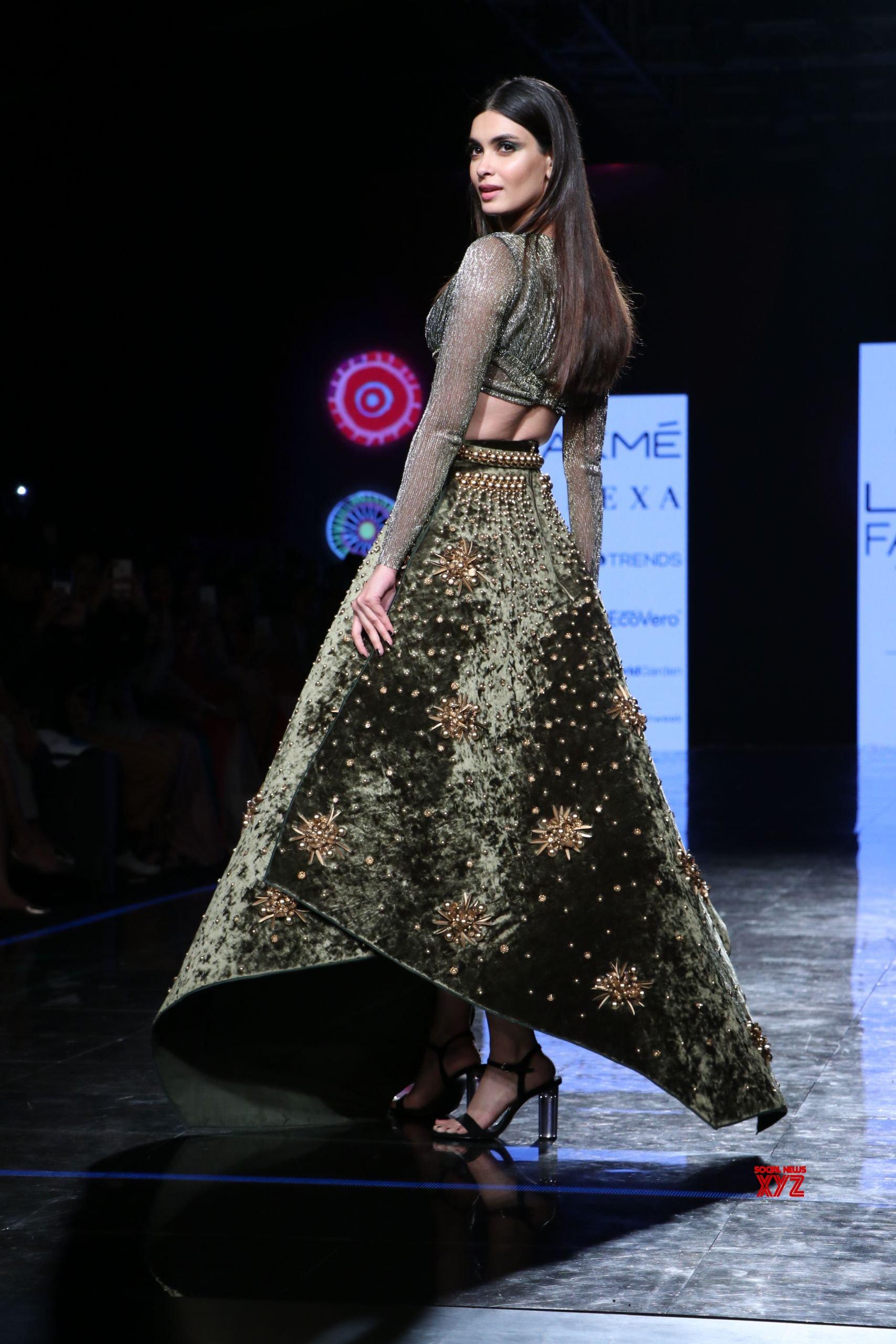 Diana Penty Walks For Shivana Naresh At Lakme Fashion Week Summer Resort 2020 HD Gallery
