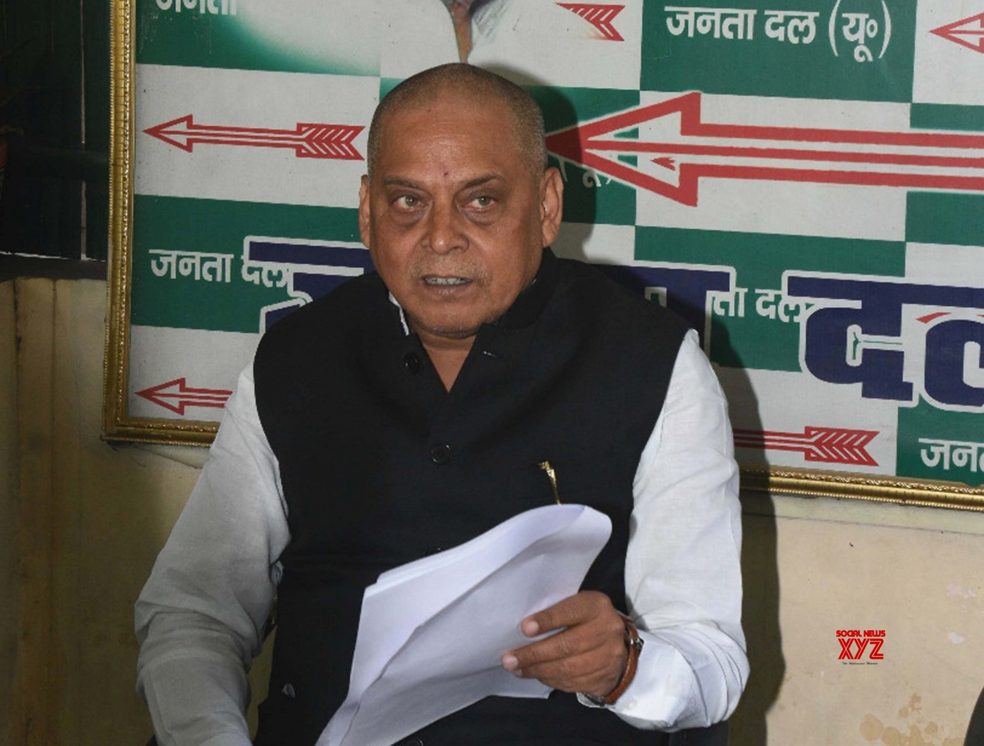 Patna: Neeraj Kumar's press conference #Gallery