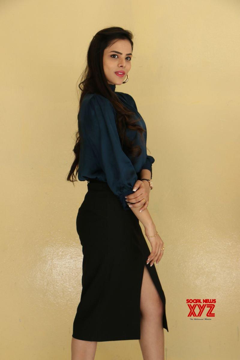 Raahu Movie Heroine Krithi Ghargh Interview Stills