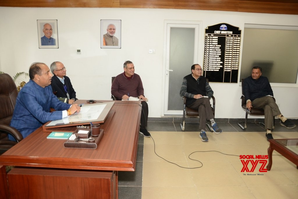 Shimla: Himachal CM chairs meeting with Deputy Commissioners and Superintendents of Police over COVID - 19 #Gallery