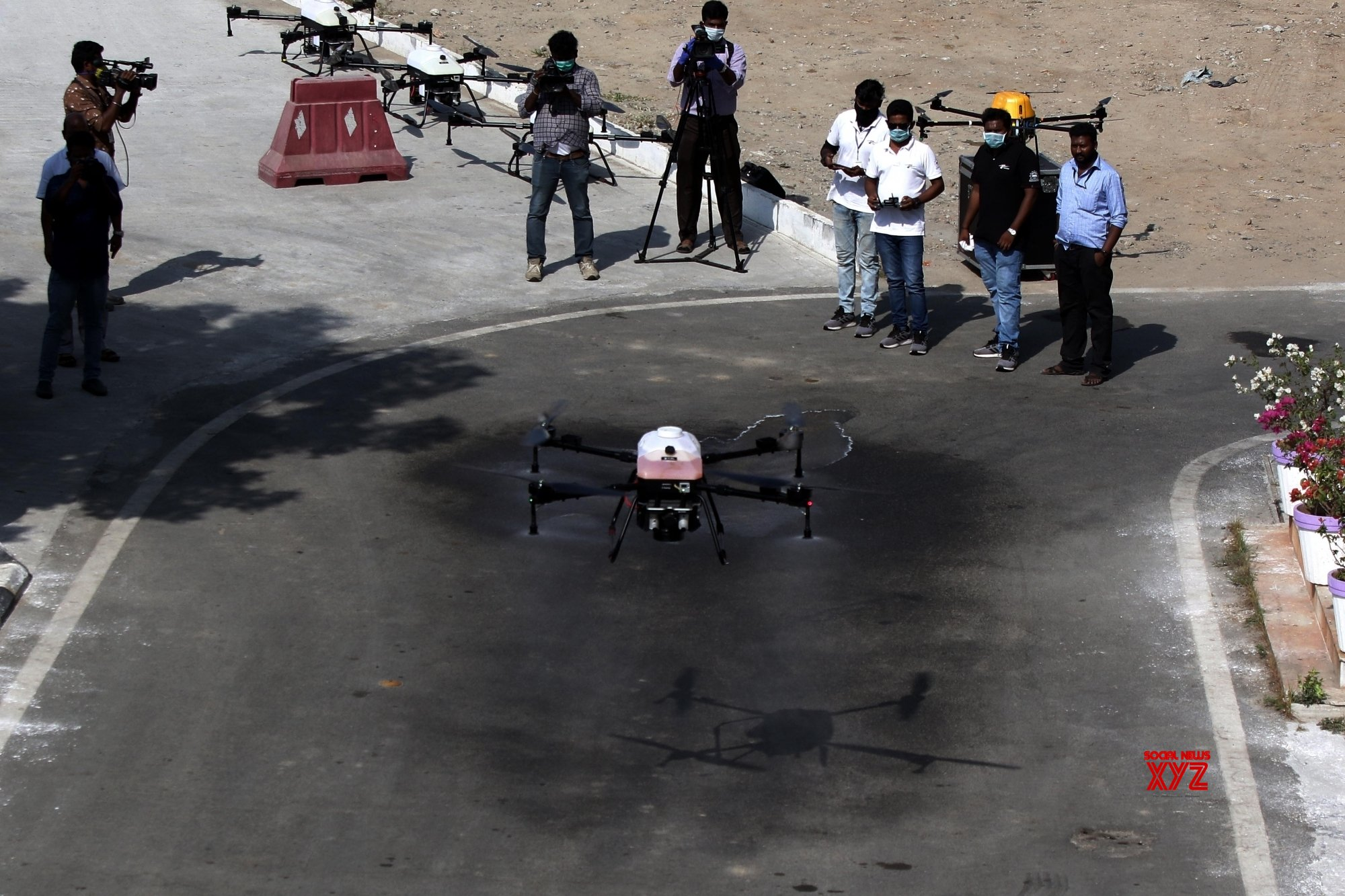 Chennai: Drones used to spray disinfectants across the city on Day 2 of nationwide lockdown #Gallery