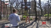 NYC removes bball hoops to enforce social distance (Video)