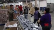 US troops aid food giveaways during virus outbreak (Video)