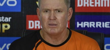 Hyderabad: Sunrisers Hyderabad Head Coach Tom Moody during a practice session ahead of an IPL 2019 match against Delhi Capitals at Rajiv Gandhi Stadium in Hyderabad on April 13, 2019. (Photo: IANS)