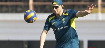 Rajkot: Australia's Steve Smith during a practice session ahead of their second ODI of the three-match series against India, at Saurashtra Cricket Association Stadium in Gujarat's Rajkot on Jan 16, 2020. (Photo: Surjeet Yadav/IANS)