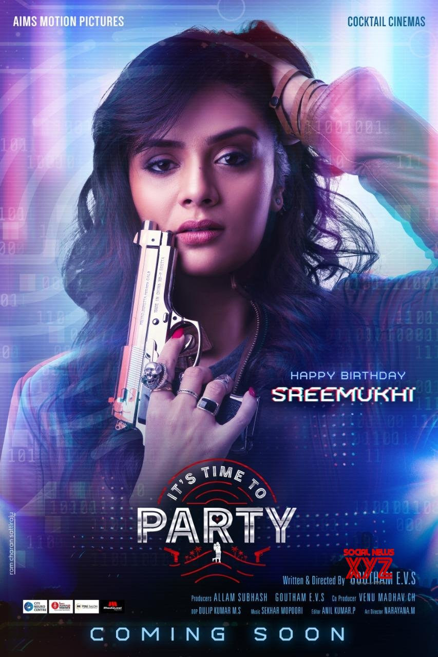 """Srimukhi """"Its time to party"""" first look"""