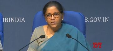 New Delhi: Union Finance Minister Nirmala Sitharaman addresses a press conference on the Rs 20 lakh crore economic package announced by Prime Minister Narendra Modi in his address to the nation earlier this week, at National Media Center in New Delhi on May 17, 2020. (Photo: IANS/PIB)