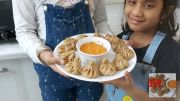 Pranavi and Srithika's Vegetarian Wheat Momos Recepie In A Healthy And Simple Way [HD] (Video)