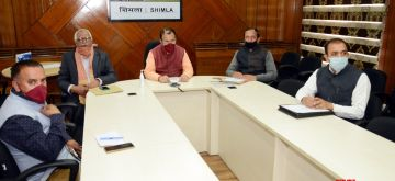 Shimla: Himachal Pradesh Education Minister Suresh Bhardwaj holds video conference meeting with Vice Chancellors and representatives of various private universities in the state, in Shimla on the second day of the fourth phase of the nationwide lockdown imposed to mitigate the spread of coronavirus, on May 19, 2020. (Photo: IANS)