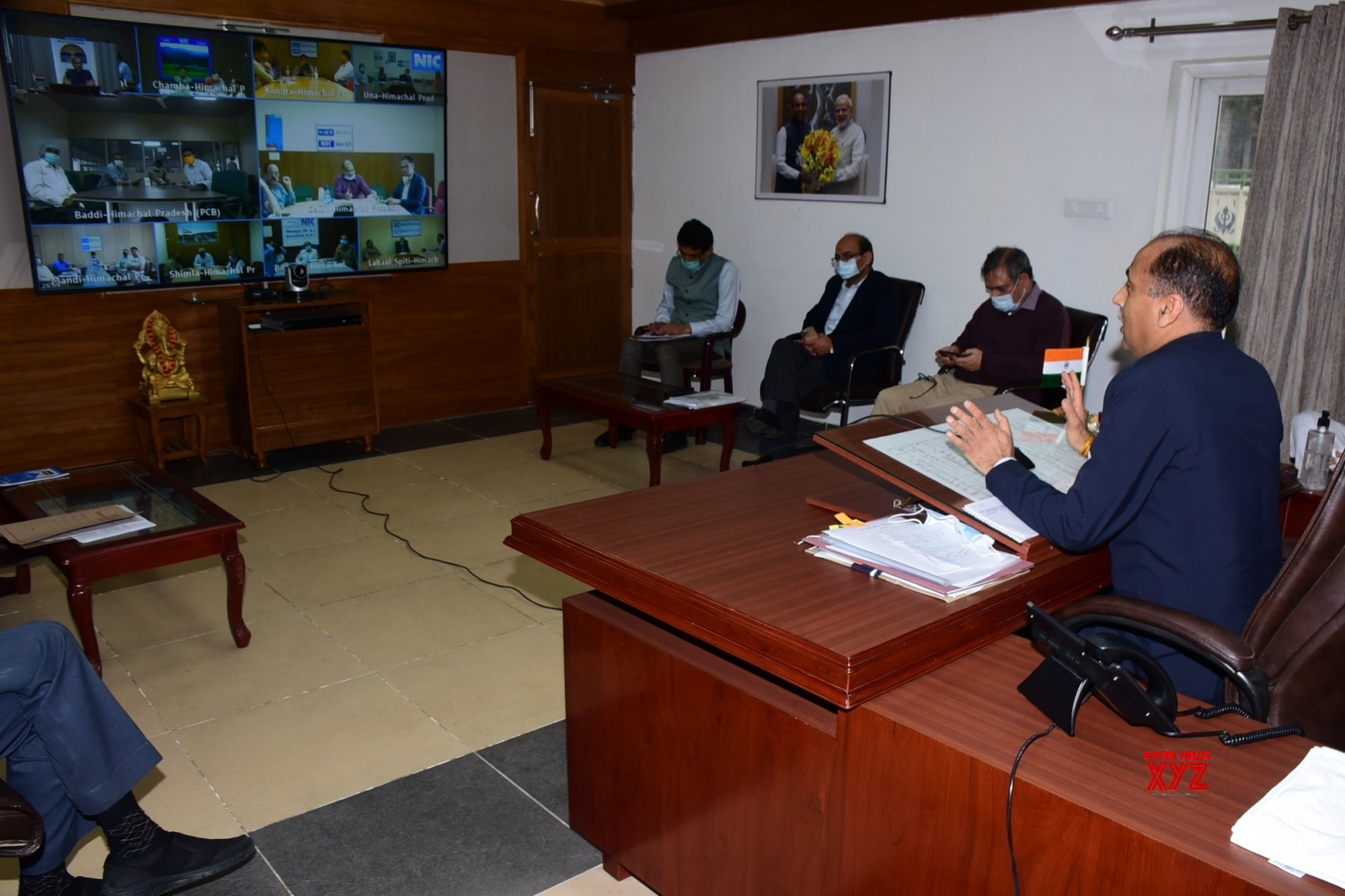 Shimla: Himachal CM presides over video conferencing with DCs, SPs and CMOs #Gallery