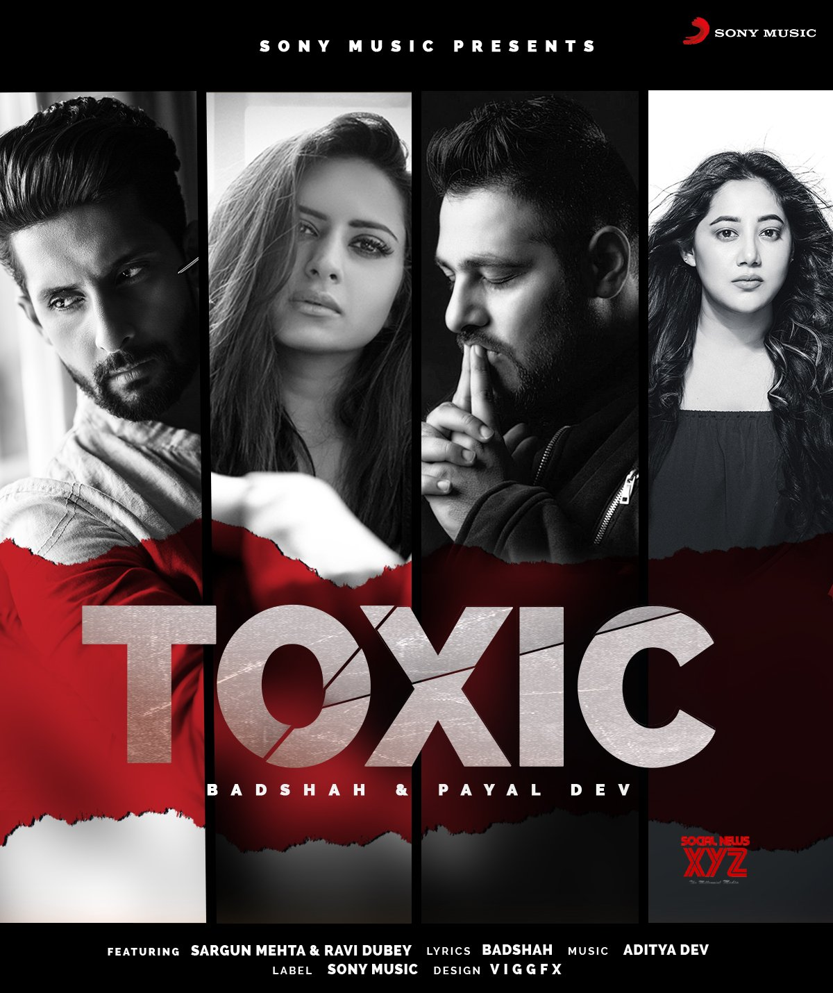 Superstar singer and  rapper Badshah collaborates with superstar  couple Sargun and Ravi for his next single Toxic