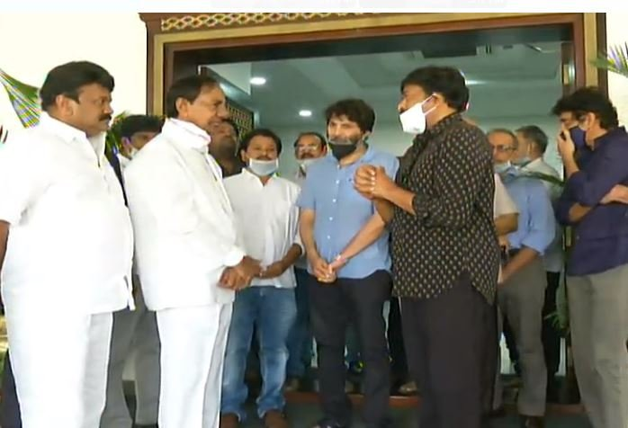 Telugu Film Fraternity Meeting With CM Sri KCR About Commencing Films Shootings - Gallery