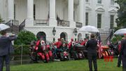 At soggy WH, Trump urges bikers to remember Nov. 3 (Video)