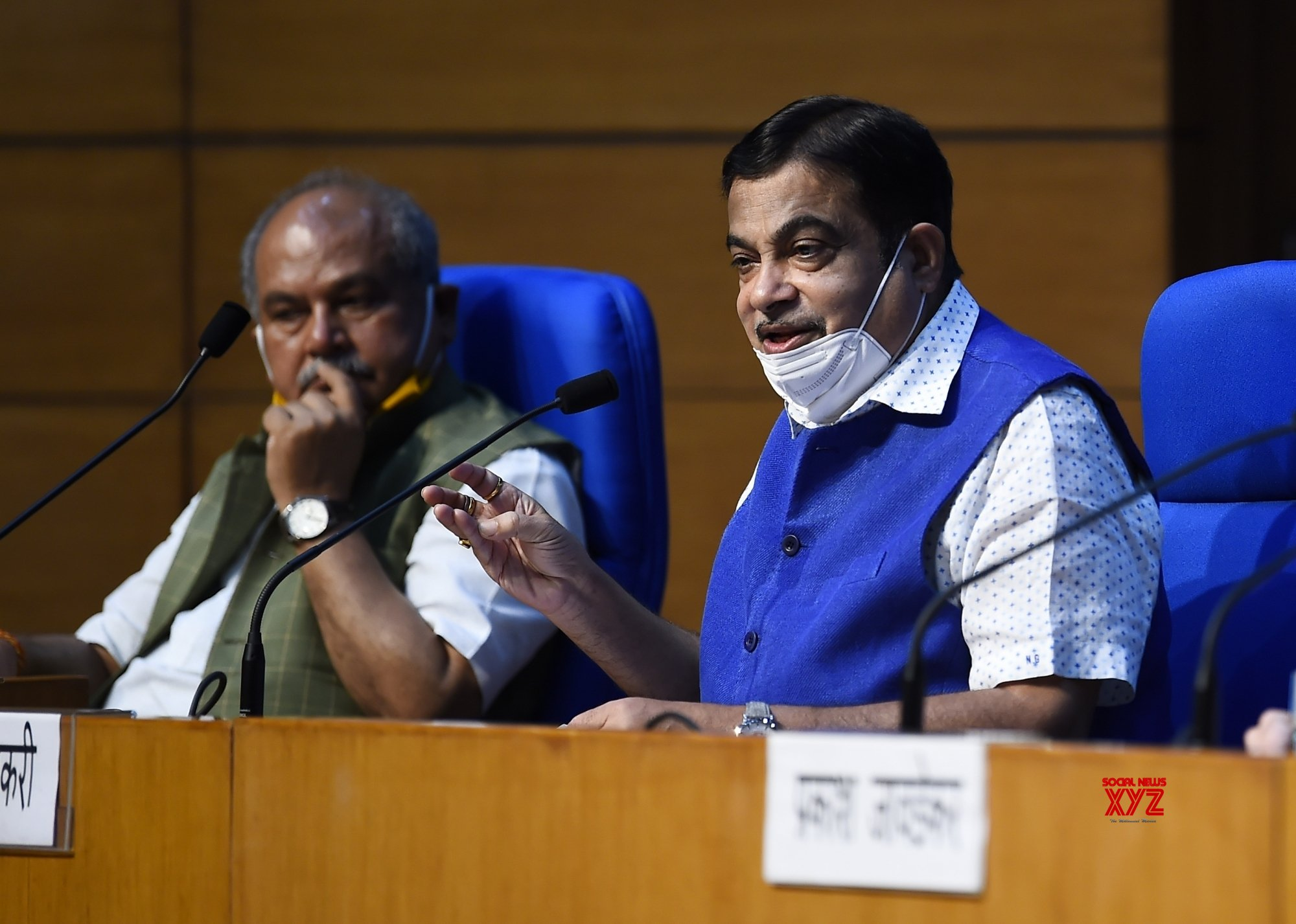 New Delhi: Nitin Gadkari, Narendra Singh Tomar brief the media on Cabinet decisions #Gallery