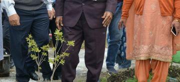 Shimla: On the occasion of World Environment Day, Himachal Pradesh Governor Bandaru Dattatraya plants sapling in the premises of Baba Balkhu Rail Museum near Old Bus Stand in Shimla on June 5, 2020. (Photo: IANS)