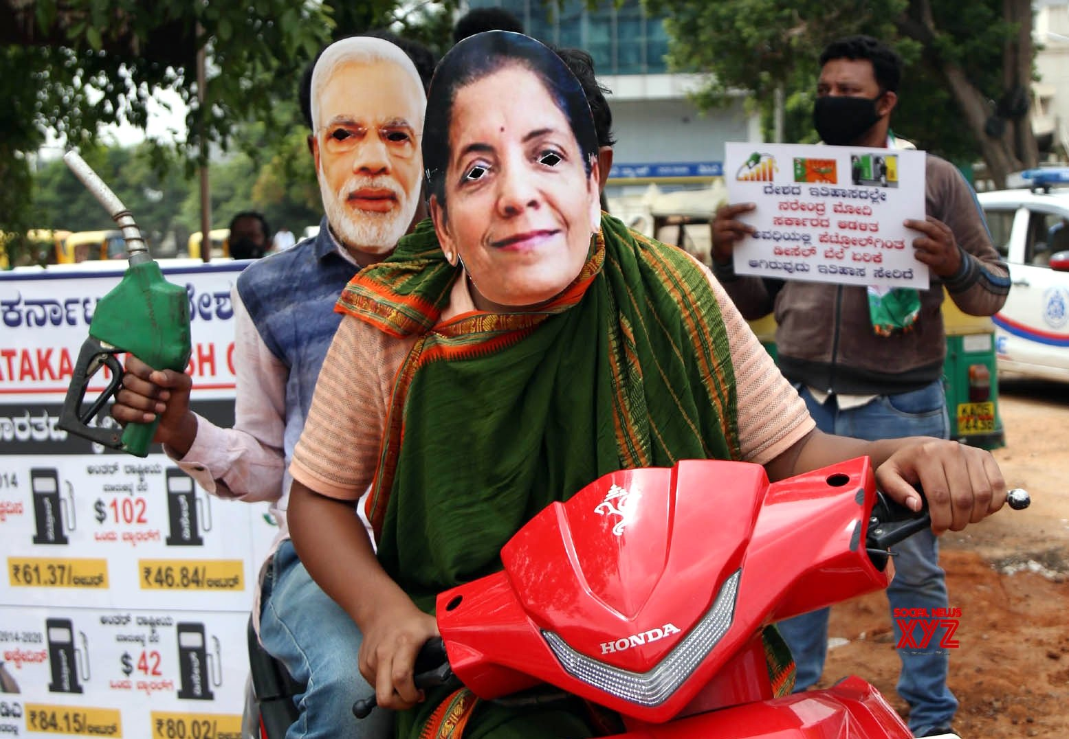 Bengaluru: Congress protests against fuel price hike #Gallery