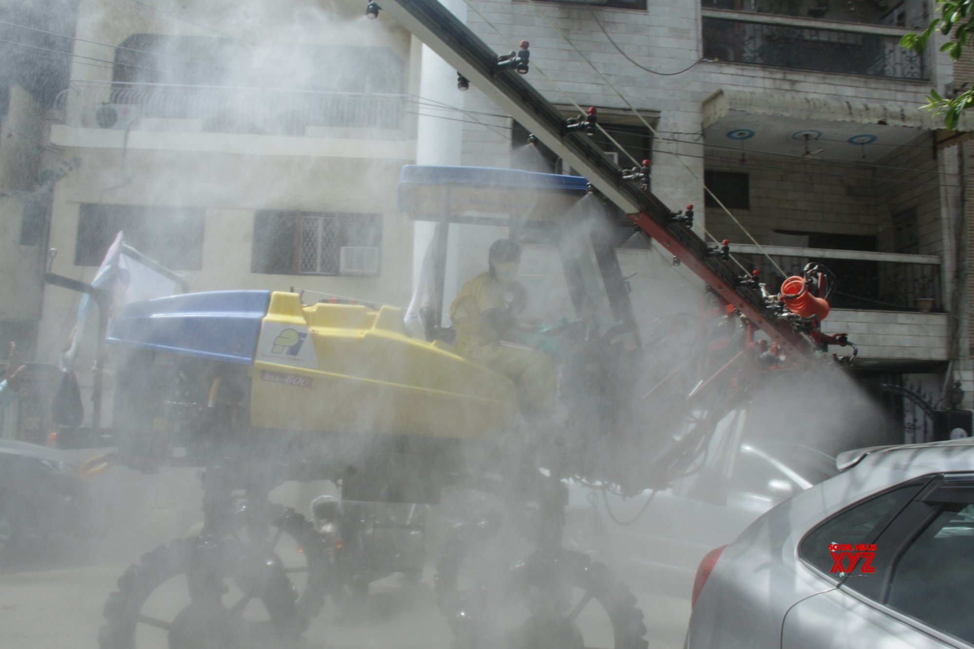 B'luru deploys disinfectant spraying cannons to combat Covid