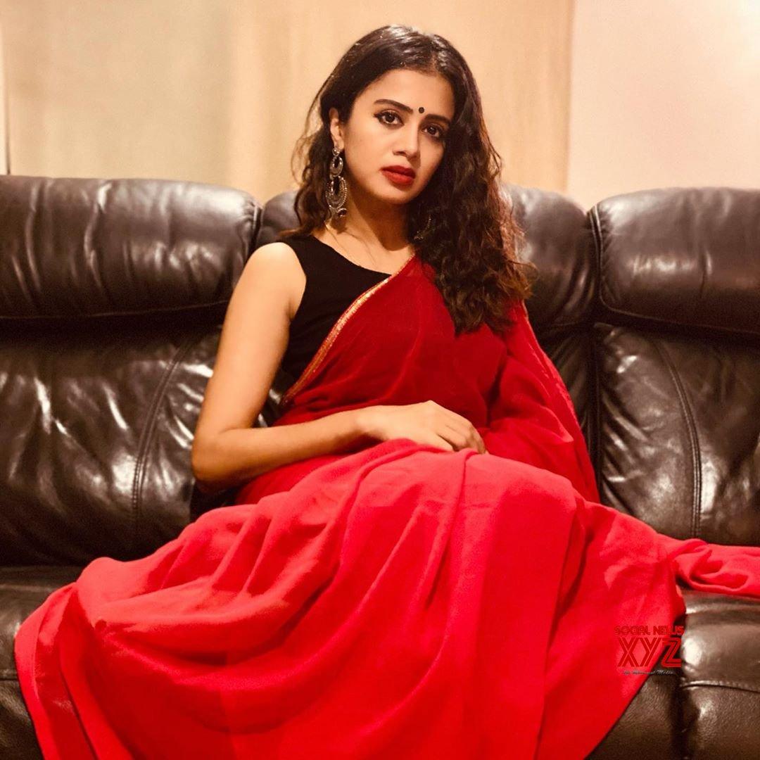 Actress Anjana Rangan Latest Radiant Red Stills