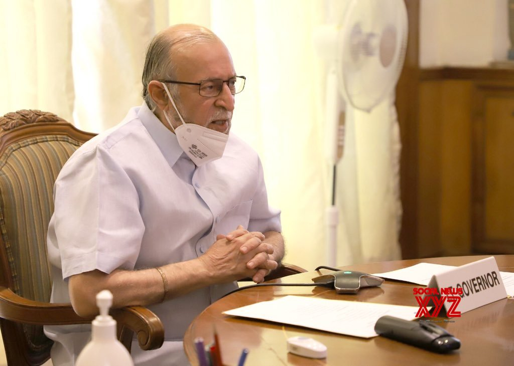 New Delhi: Anil Baijal chairs video conference meeting with newly elected DMC Mayors #Gallery