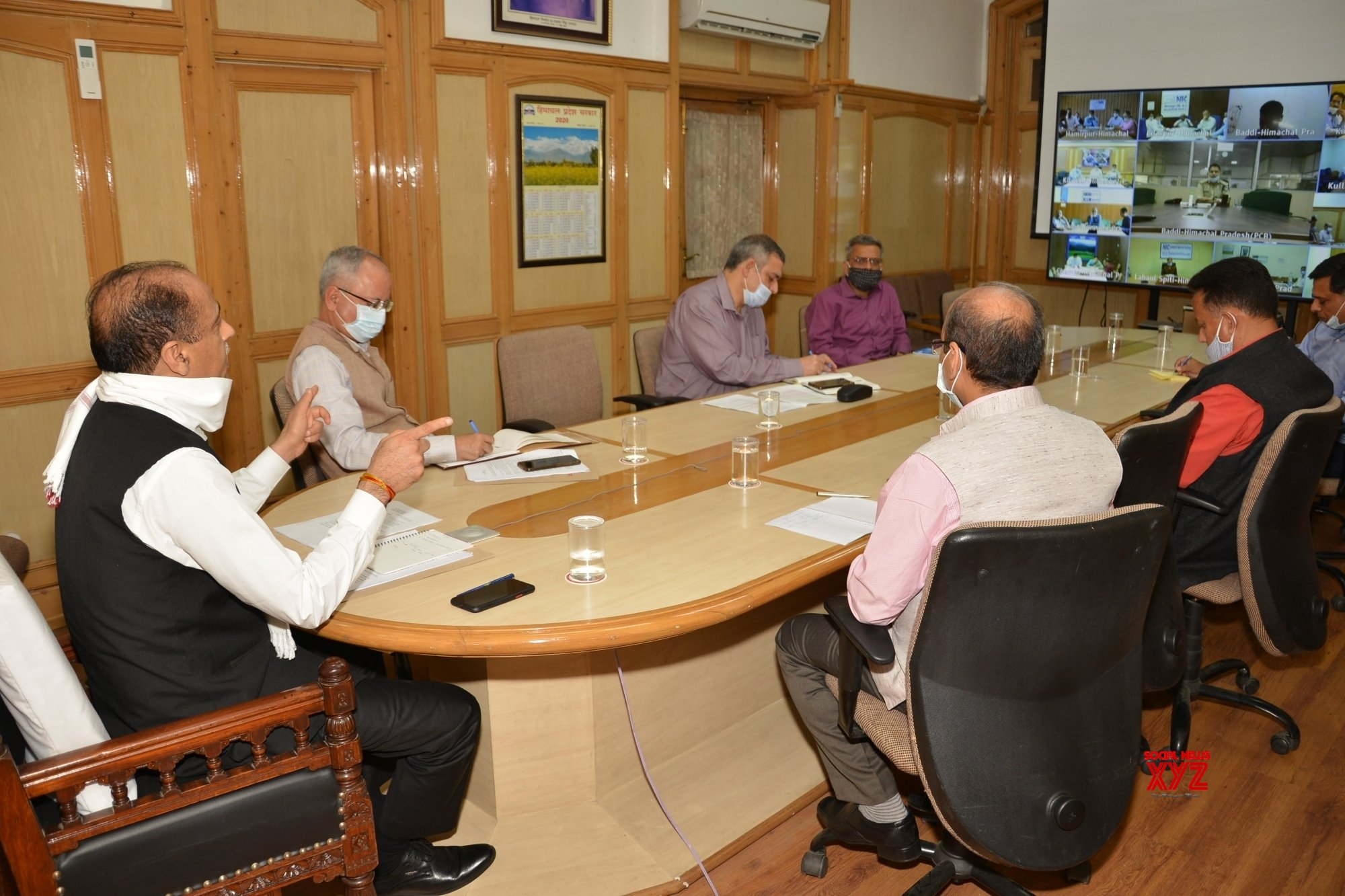 Shimla: Himachal CM chairs video conference meeting with State's Deputy Commissioners and Superintendent of Police #Gallery