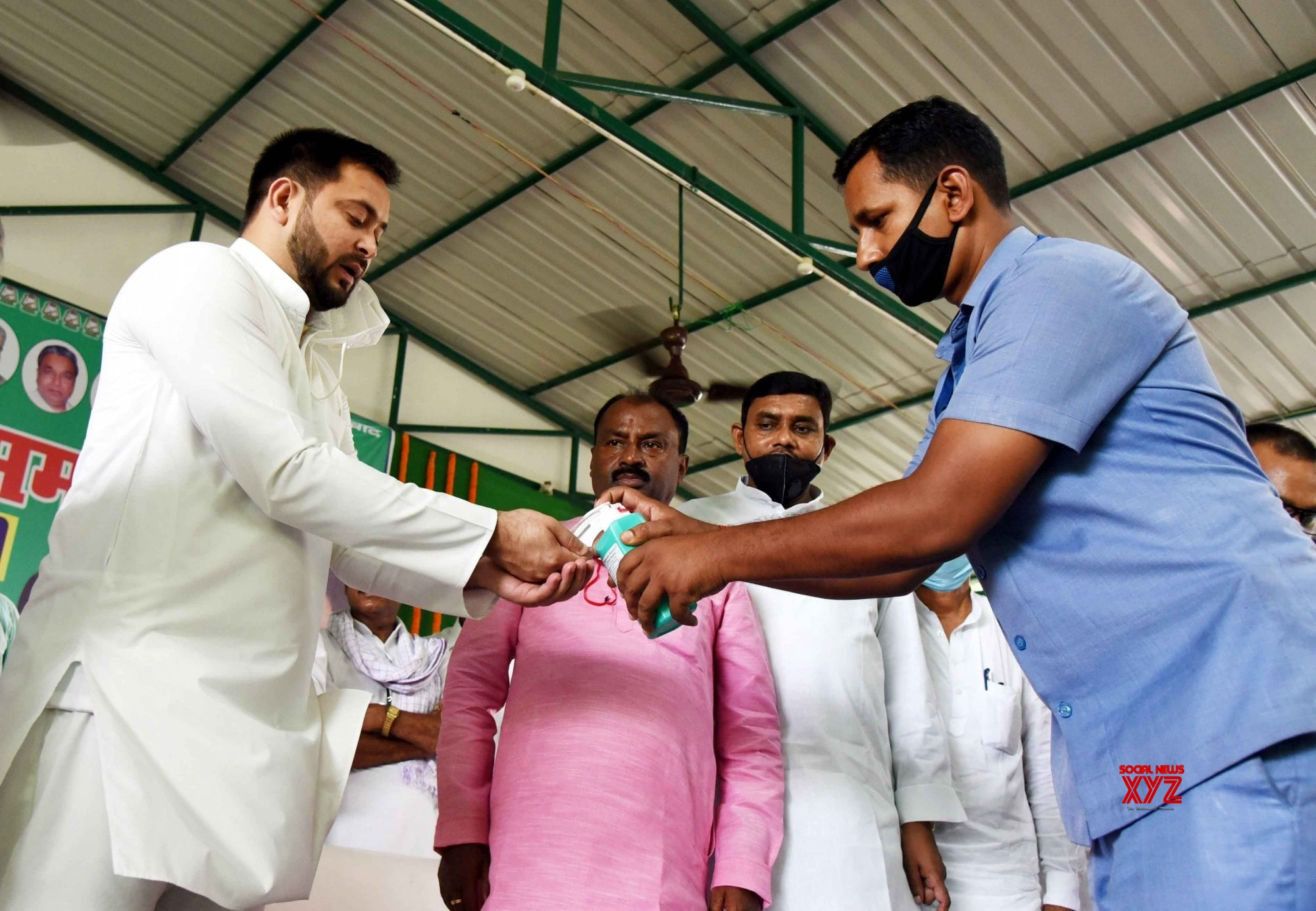 Patna: Tejashwi Yadav during RJD party programme #Gallery
