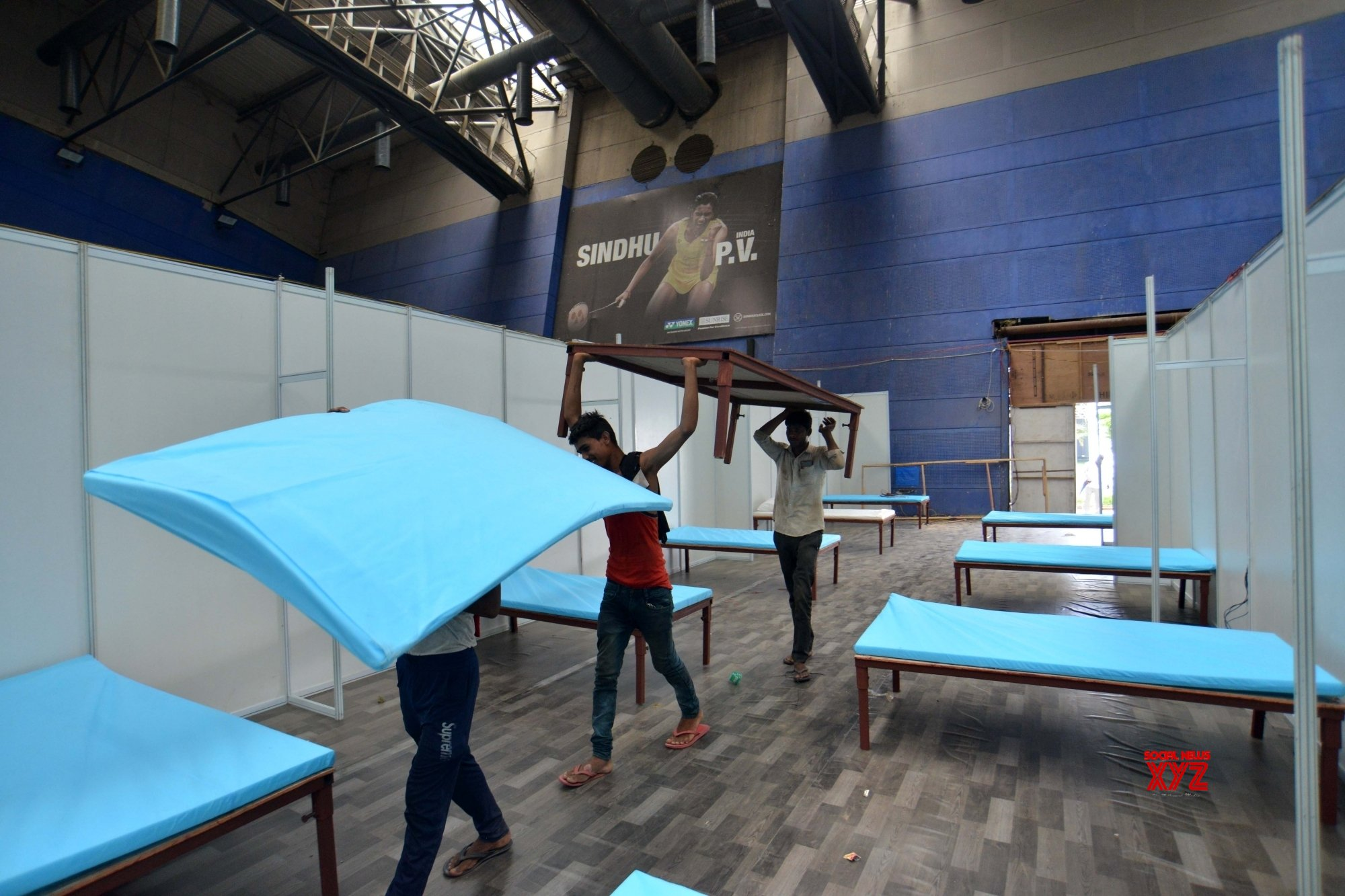 New Delhi: CWG indoor stadium being turned into Covid - 19 care centre #Gallery
