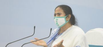 Howrah: West Bengal Chief Minister Mamata Banerjee addresses a press conference at Nabanna in Howrah on June 30, 2020. (Photo: IANS)