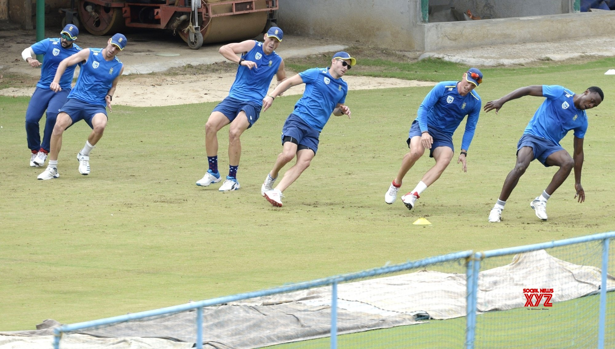 South Africa male cricketers return to training