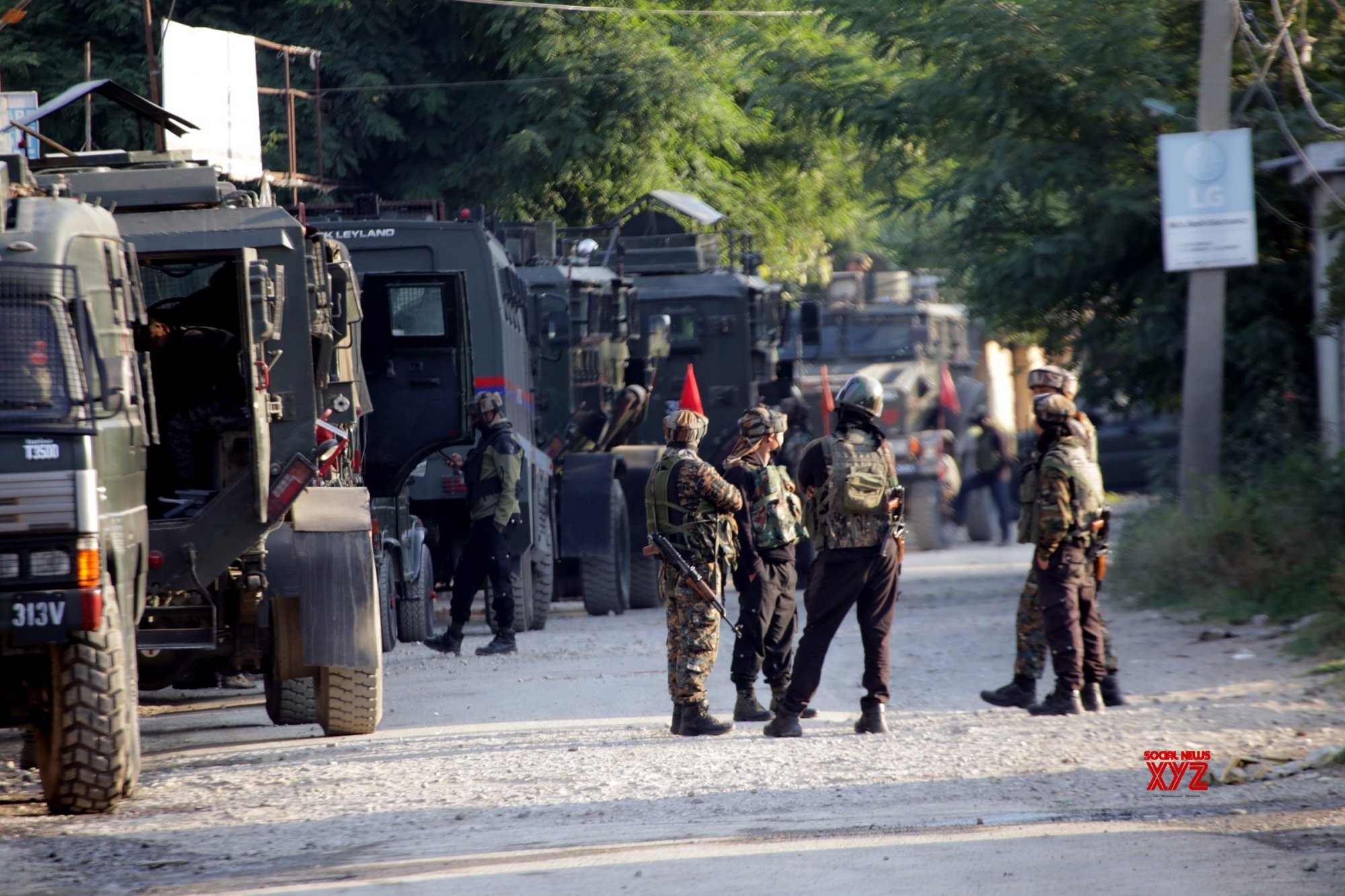 Tral: Major encounter underway at Tral in South Kashmir #Gallery